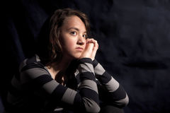 Moody portrait of a teen. Royalty Free Stock Images