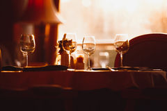Moody restaurant atmosphere interior royalty free stock photo