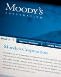 Moody's ratings. Screenshot of Moody's research homepage. Financial ratings for European countries are crucial for their economies royalty free stock images
