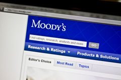 Moody's website Stock Photos