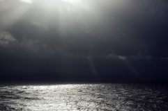 Moody Sea. Stormy looking view across the sea Stock Photos