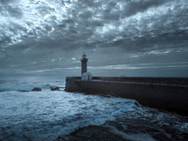 Moody seascape Stock Photography