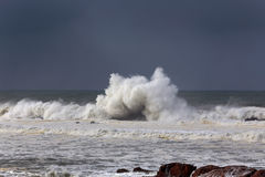 Moody seascape before rain Royalty Free Stock Images