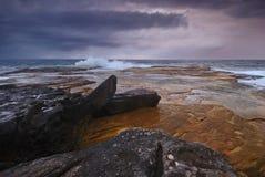 Moody seascape sunrise Royalty Free Stock Photo