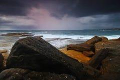 Moody seascape sunrise Stock Images