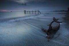 Moody seaside Stock Photography