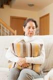 Moody  senior woman Stock Image