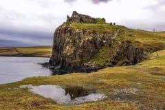 Moody shot of Duntulm Castle in Skye Royalty Free Stock Photos
