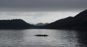 Moody Skies On Norwegian Fjord Royalty Free Stock Photo
