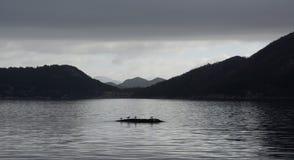 Moody Skies On Norwegian Fjord Royalty Free Stock Photo