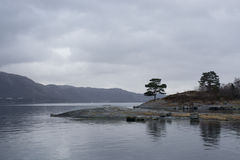 Moody Skies On Norwegian Fjord Royalty Free Stock Photography