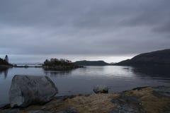 Moody Skies On Norwegian Fjord Stock Photo