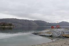 Moody Skies On Norwegian Fjord Stock Images