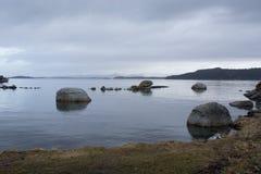 Moody Skies On Norwegian Fjord Royalty Free Stock Image