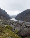 Moody Skies On Norwegian Fjord Royalty Free Stock Images