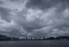 Moody Skies over Bangkok Royalty Free Stock Photo