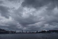Moody Skies over Bangkok Royalty Free Stock Photo