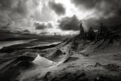 Moody Skies in Scotland royalty free stock photography