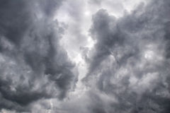 Moody sky-4. Ominous dark thunderstorm clouds in the sky royalty free stock photos