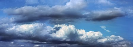 Moody sky. Panoramic view of moody sky royalty free stock photo