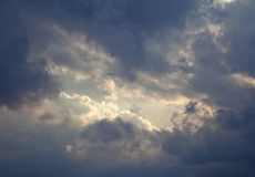 Moody sky with a clearance Stock Images