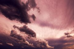 Moody sky and clouds. Before the rain Stock Image