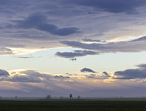 Moody sky at dusk above Nationalpark
