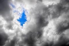 Moody sky hole Stock Photography