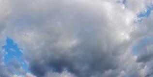 Moody Sky Panorama. Moody Cloudy Sky Panoramic View Stock Photo
