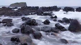Moody Storm Waves Ocean Dreamy Seascape stock video