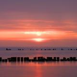 Moody sunrise Royalty Free Stock Images