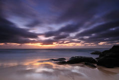 Moody sunrise seascape Royalty Free Stock Photography