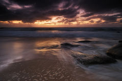 Moody sunrise seascape Royalty Free Stock Images