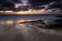 Moody sunrise seascape Stock Photography
