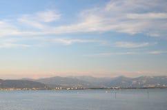 Moody twilight on Lake Bodensee Stock Photos