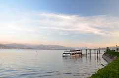 Moody twilight on Lake Bodensee Royalty Free Stock Images
