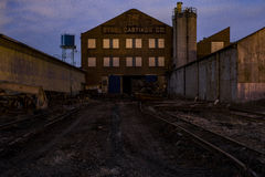 Moody View of Abandoned Foundry - Columbus, Ohio Royalty Free Stock Images
