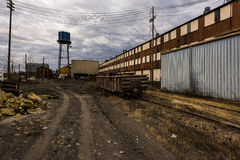 Moody View of Abandoned Foundry - Columbus, Ohio Royalty Free Stock Image