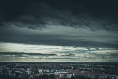 Moody weather over the city royalty free stock images