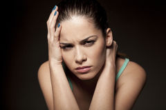 Moody woman Royalty Free Stock Images
