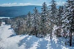 Mooi aard en landschap rond de toevlucht van de sneeuwschoenski in cass royalty-vrije stock afbeeldingen