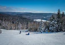Mooi aard en landschap rond de toevlucht van de sneeuwschoenski in cass royalty-vrije stock afbeelding