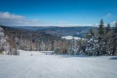 Mooi aard en landschap rond de toevlucht van de sneeuwschoenski in cass stock foto's