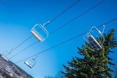 Mooi aard en landschap rond de toevlucht van de sneeuwschoenski in cass royalty-vrije stock foto's