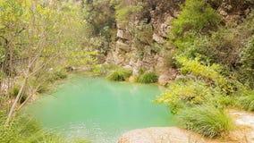 Mooi aardlandschap in Polilimnio in de Peloponnesus in Griekenland stock videobeelden