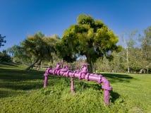 Mooi aardlandschap rond Peter F Schabarum Regionaal Park stock foto