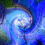 Mooi abstract beeld op blauw close-up als achtergrond Stock Afbeelding