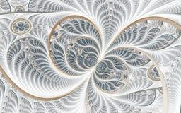 Mooi abstract fractal kunstwerk met details Abstracte bloemenachtergrond vector illustratie