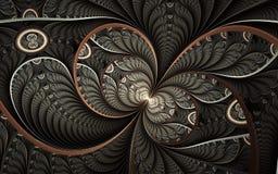 Mooi abstract fractal kunstwerk met details Bloemenillustratie voor art. royalty-vrije illustratie