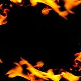 Mooi abstract frame met vlam Royalty-vrije Stock Fotografie